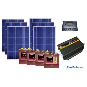 Солнечная электростанция для загородного дома 1500Вт 24В 225Ач