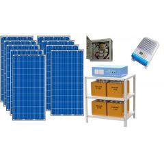 Солнечная электростанция для частного дома 6000Вт 48В 225 Ач