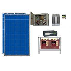 Солнечная электростанция для загородного дома 1300Вт 12В 225Ач